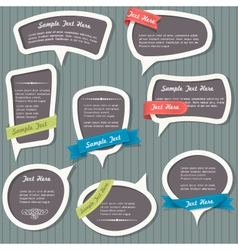 Speech bubbles in vintage style vector image vector image