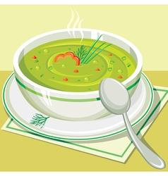Split pea soup vector