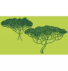 Stylized abstract trees vector image