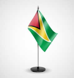 Table flag of guyana vector