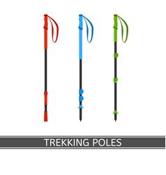 Trekking poles vector