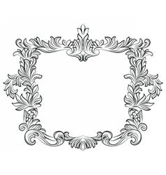 Vintage Imperial Baroque Rococo frame vector image vector image