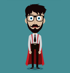 young businessman in flat style superhero vector image