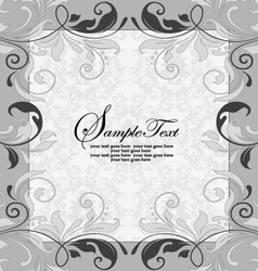 Gray invitation card with place for text vector