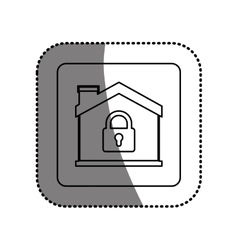 Isolated house and padlock design vector