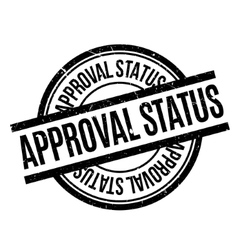Approval status rubberstamp vector