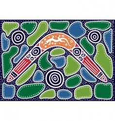 Australian pattern vector image