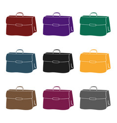 Briefcase icon in black style isolated on white vector