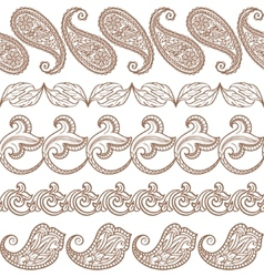 Set of ethnic design elements vector