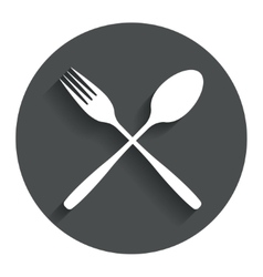 Eat sign icon cutlery symbol fork and spoon vector