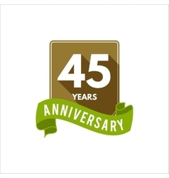 45 years Anniversary badge sign and emblem with vector image vector image