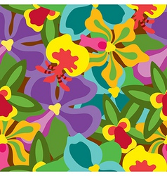 Summer orchid pattern vector