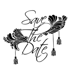 Lettering save the date vector