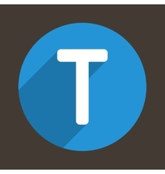 Letter t logo flat icon style vector