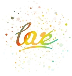 Love lettering word vector image