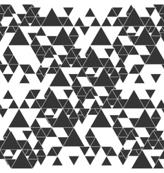 Triangular seamless pattern abstract black vector