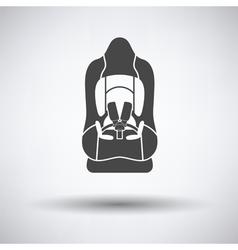 Baby car seat icon vector