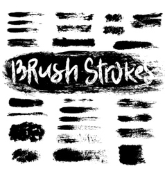 Grunge brush strokes set vector