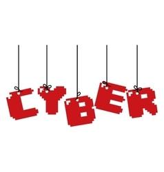 Letters icon cyber design graphic vector