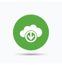 Download from cloud icon data storage sign vector