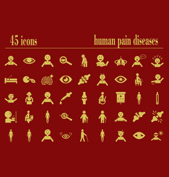 Body pain and general human illness symptoms vector