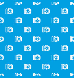 Camera pattern seamless blue vector