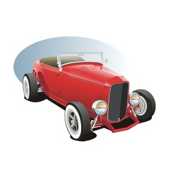 classic hot rod vector image vector image
