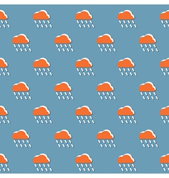 Cloud And Rain Pattern vector image
