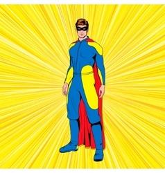 Comic superhero vector