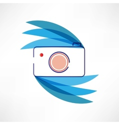 Digital cam icon vector image vector image