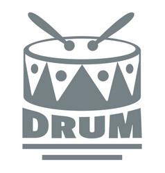 Drum logo simple gray style vector