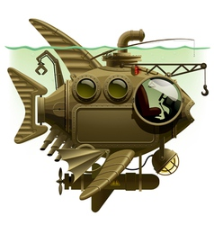 Fish submarine vector