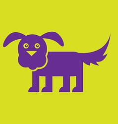 Flat Dog vector image vector image