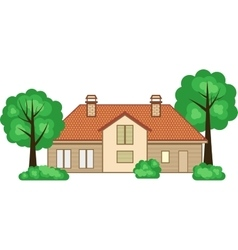 Flat style family house vector