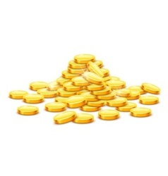 Gold coins cash money in hill vector image vector image