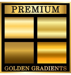 Gold texture square patterns set vector image vector image