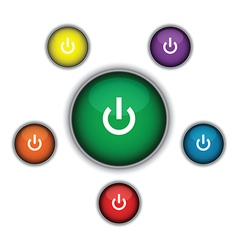 green on button vector image vector image