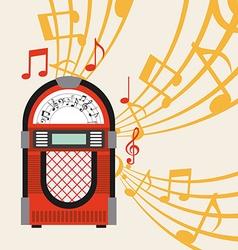 jukebox vector image