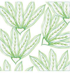 Leafs plant pattern decorative icon vector