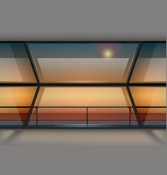 modern panoramic window vector image