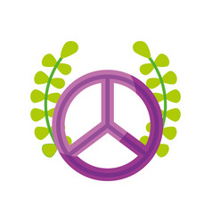 peace symbol with wreath vector image