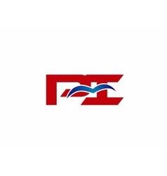 Pi company linked letter logo vector
