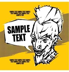 Punk rock concert poster flyer ticket vector