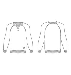 Raglan long sleeve t-shirt vector