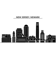 usa new jersey newark architecture city vector image