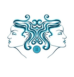 Zodiac sign of gemini vector