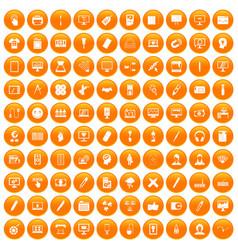 100 webdesign icons set orange vector