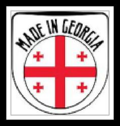 Made in Georgia rubber stamp vector image