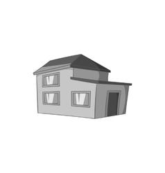 House icon black monochrome style vector