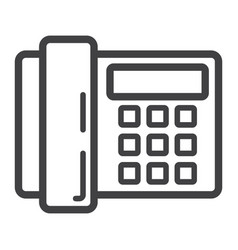 home phone line icon household and appliance vector image